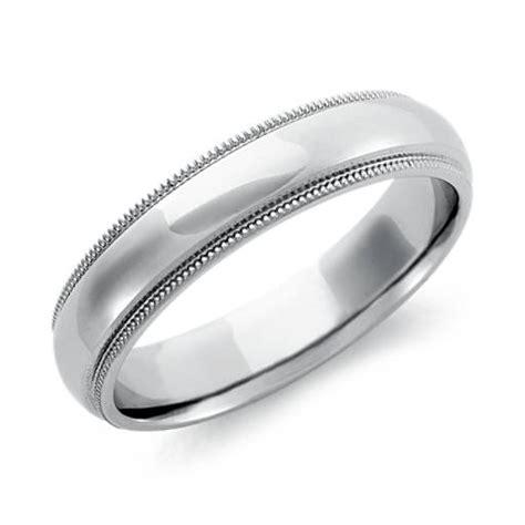 comfort fit wedding ring in palladium 4mm blue nile