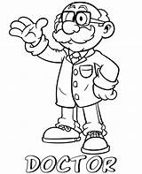 Doctor Coloring Cartoon Professions Pages Printable Topcoloringpages Children sketch template