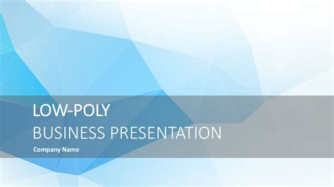 Digital Brochure Powerpoint Templates Slidemodel Low Poly Business Powerpoint Visualization Slidemodel