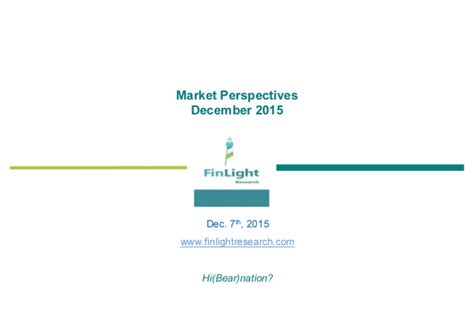 Finlight Research  Market Perspectives  Dec 2015