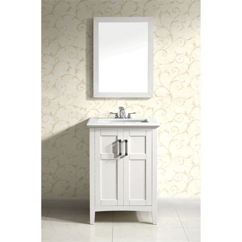 salem white 24 inch bath vanity with 2 doors and white