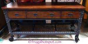 Casters For Kitchen Island Costco Whalen Industrial Metal Wood Workbench 299 99 Frugal Hotspot