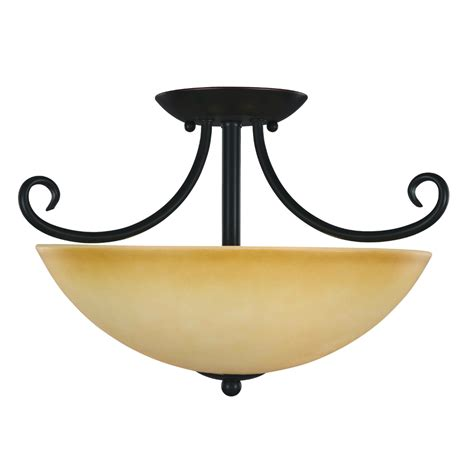 rubbed bronze essex semi flush mount ceiling light fixture
