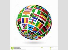 Flags globe Africa stock vector Image of kenya