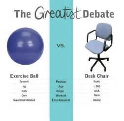 swiss ball vs office chair the greatist debate