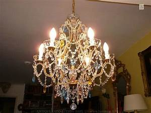 Lustre Pampilles Cristal : lustre cage pampilles verre ou cristal lustre cristal ~ Teatrodelosmanantiales.com Idées de Décoration