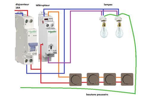 protection mur cuisine installation télérupteur unipolaire schneider schema electrique