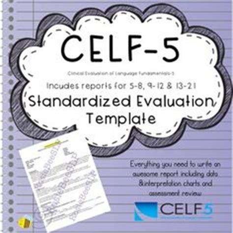celf 5 preschool speech and language assessment report sample template 969