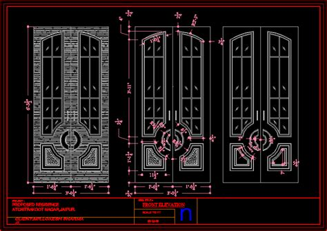 door elevation dwg elevation  autocad designs cad