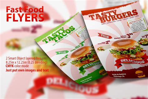 fast food flyer template flyer templates creative market