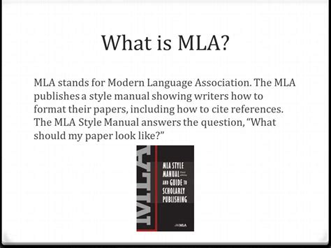 citing sources using the mla style guide ppt