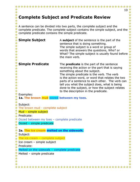 attributive and predicative adjectives worksheets free printables worksheet