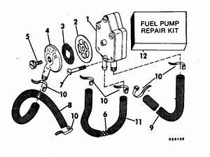 Evinrude Fuel Pump Parts For 1983 70hp E70tlcte Outboard Motor