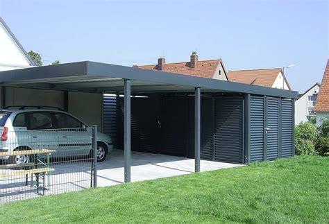 Carport Mit Abstellraum (metall)  3,00m X 8,96m (bxt