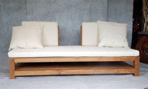 canapé teck canapé lit en teck meubles en teck uniques