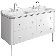 Bauhaus Waldorf 1500mm Basin Unit White Gloss With Legs