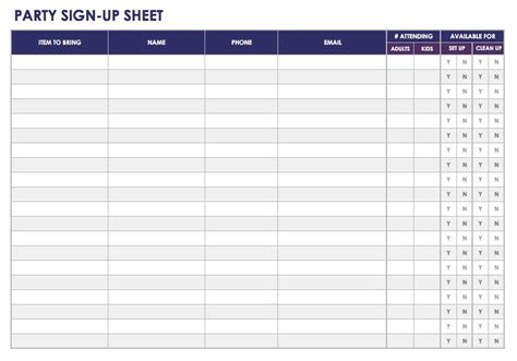 sign in sheet template excel free sign in and sign up sheet templates smartsheet