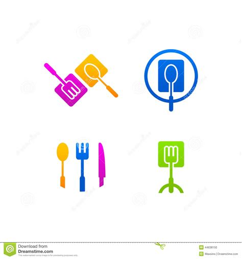 logo de cuisine logo de web de menu d 39 icône d 39 affaires de cuisine illustration de vecteur illustration du