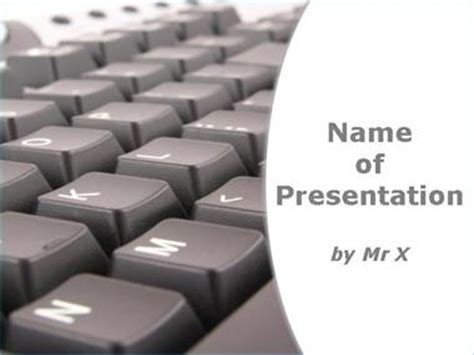 computer keyboard  white background powerpoint template