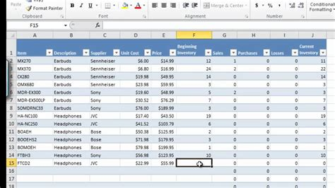 manage inventory  excel db excelcom