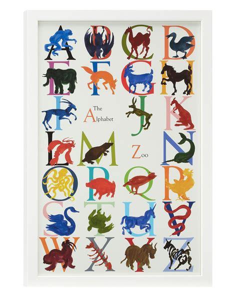 animal alphabet zoo animal poster abc watercolor