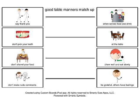 good table manners 2 classroom table manners good