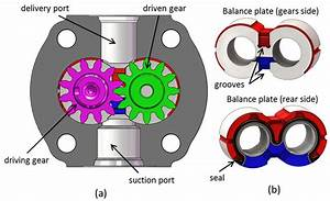 A  Example Of An External Gear Pump   B  Detail Of The