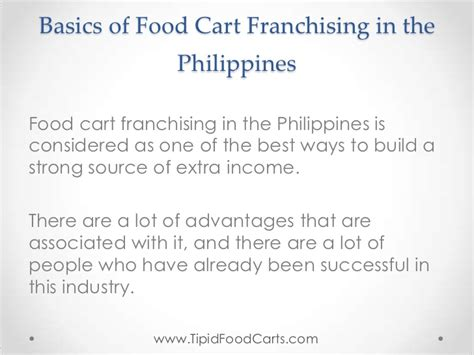 basics of food cart franchising in the philippines