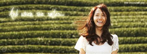 And When She Smiles…  Yoona Snsd Facebook  The Little