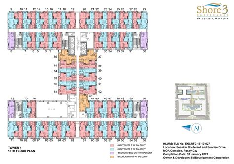 floor plans shore towers shore 3 residences condominium for sale in pasay metro manila price