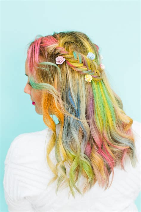 Rainbow Hair Braid Tutorial Bespoke Bride Wedding Blog