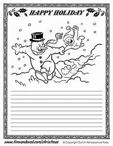 Printable Christmas Writing Paper Templates