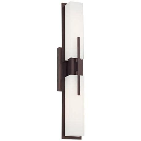 possini midtown 23 1 2 quot high bronze bath bar light fixture