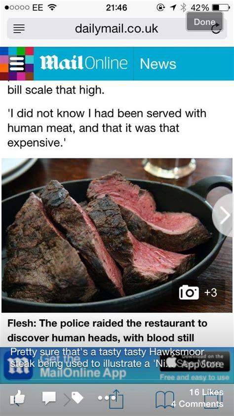 foto de Human Meat Restaurant HOAX Got Daily Mail Into Trouble