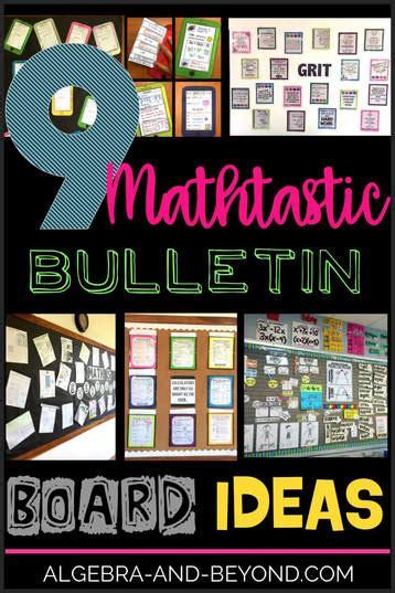 Math Decorations - 9 mathtastic bulletin board ideas algebra and beyond