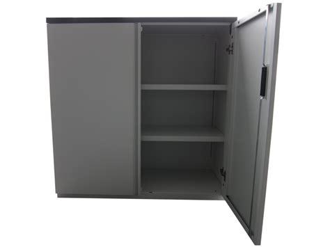 armoire m 233 tallique knoll mi haute blanche et grise