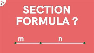 What Is The Section Formula For Internal Division