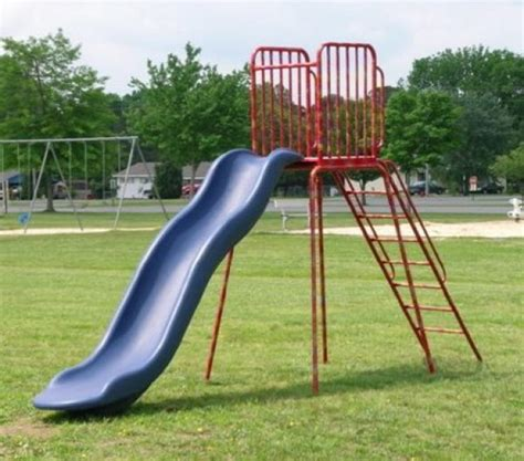 backyard jungle metal playground slide pictures and ideas