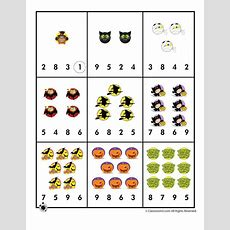 Halloween Number Recognition  Counting Worksheet  Woo! Jr Kids Activities