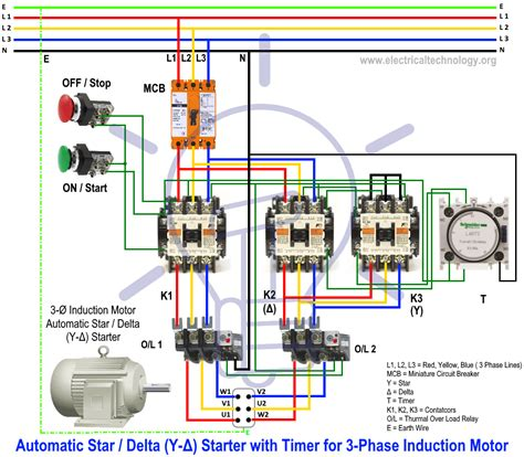 Automate Remote Start Wiring Diagram by Delta Starter Y δ Starter Power And