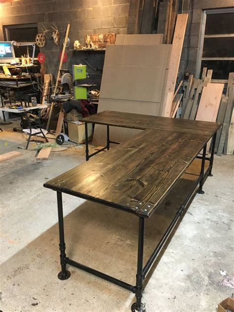 industrial pipe  shaped desk