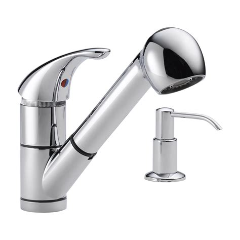 kitchen faucet soap dispenser delta faucet p18550lf choice single handle pull out