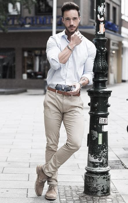 What To Wear With Khaki Pants For Men - 50 Male Outfit Styles