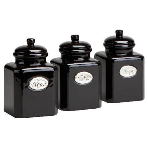 black kitchen canister tesco country kitchen tea coffee sugar bundle appliances tracker