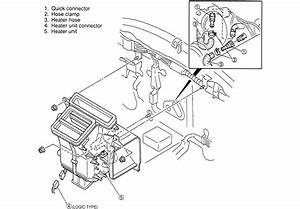 Service Manual  1990 Mazda 626 How To Remove Heater Core