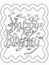 Coloring Birthday Happy Pages Cards Card Printables Underwater Holiday Printable Wuppsy Colouring Colour Sheets Autumn Fall Cartoon Adult Disney Popular sketch template