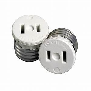 660 watt lamp holder to outlet adapter white r54 00125 With outdoor lamp holder with outlet