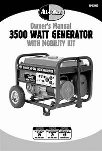 All Power America 3500 Apg3002 Generator With Mobility Kit