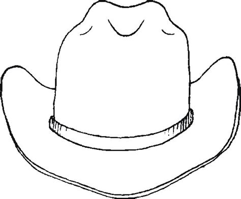 cowboy hat template free printable cowboy coloring pages for