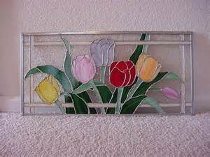Tulips Stained Glass Window Pattern